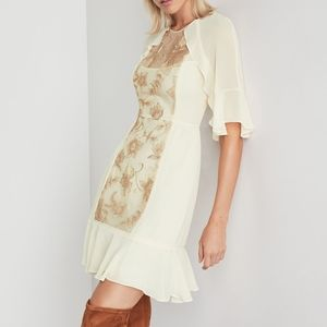 BCBG Metallic Floral Sequin Dress NWT